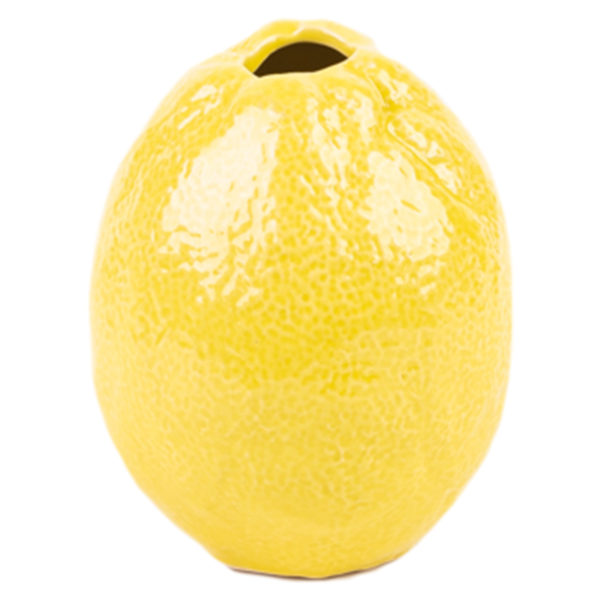 Handgemachte Vase Little Lemon, Material Keramik in Groesse 10x8,5, gelb