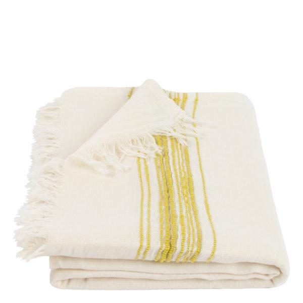 Hamamtuch, Stripy, Material Leinen Baumwolle, gelb