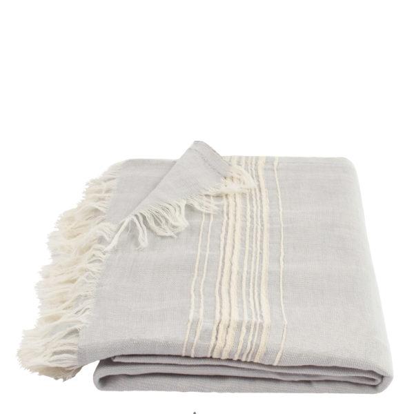 Hamamtuch, Stripy, Material Leinen Baumwolle, beige