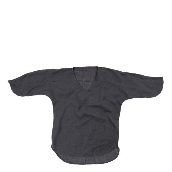 Leinen Oberteil, Shirty, Material Leinen, dunkelgrau