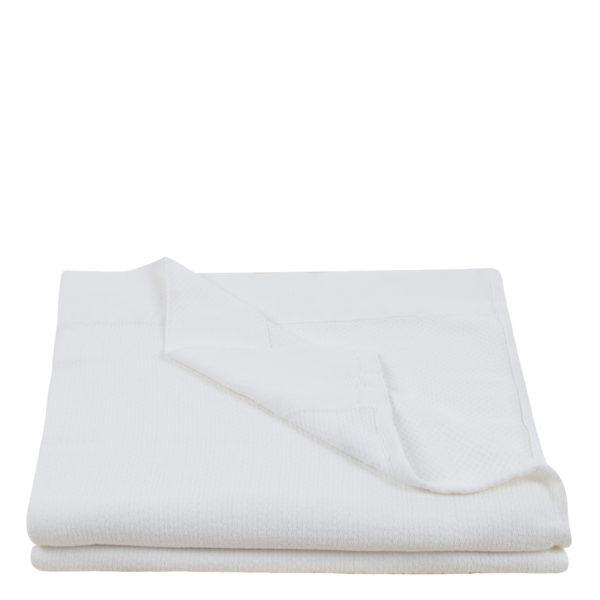 Baumwolldecke, Pique, Material Baumwolle , weiß