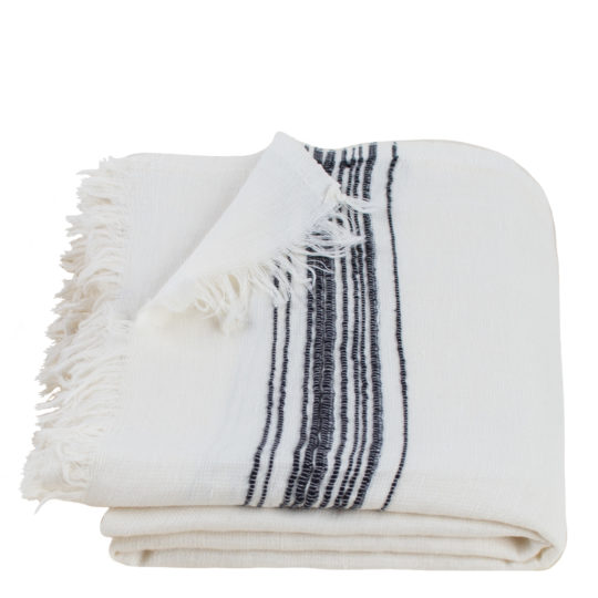 Hamamtuch, Stripy, Material Leinen Baumwolle, dunkelgrau