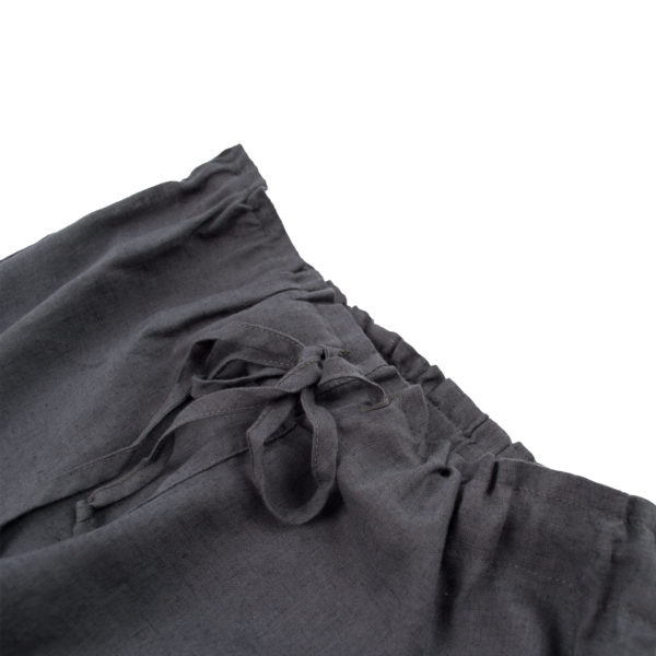 Leinen Shorts, Shorty, Material Leinen Baumwolle, dunkelgrau