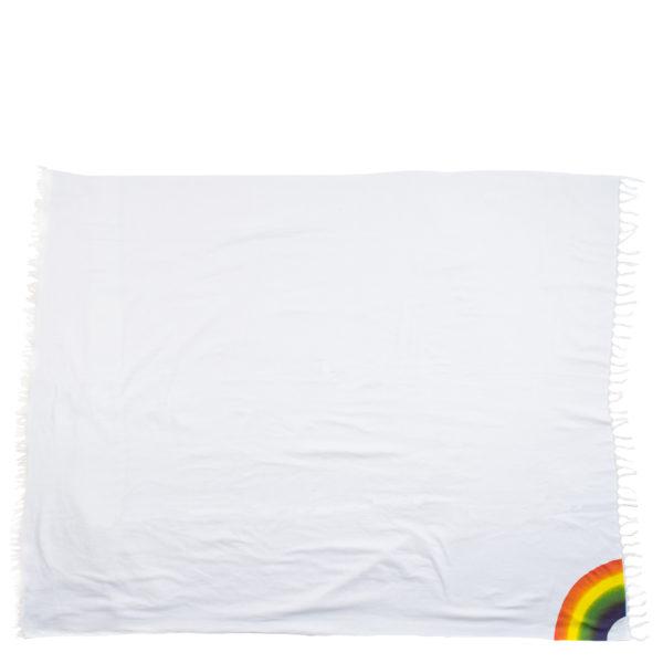 zoeppritz 331 Rainbow Tischdecke aus Baumwolle, weiss, 145x250