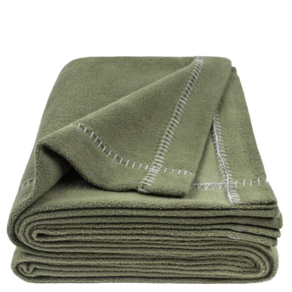 zoeppritz Soft-Greeny weiche Decke, Farbe gruen, Material GOTS Bio-Baumwolle in Groesse 140x190