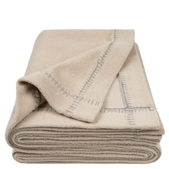 zoeppritz Soft-Greeny weiche Decke, Farbe beige, Material GOTS Bio-Baumwolle in Groesse 140x190