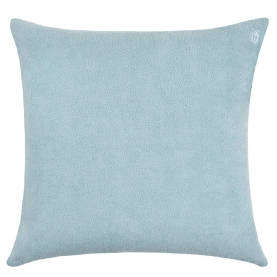 zoeppritz Soft-Greeny weicher Kissenbezug Farbe blau, Material GOTS Bio-Baumwolle in Groesse 50x50