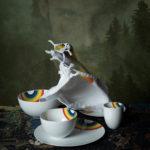 zoeppritz 331 Rainbow Servietten aus Baumwolle, weiss, 50x50