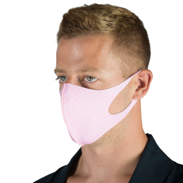 Stoffmaske wiederverwendbar Responsibility, Material Polyester Elasthan, rosa