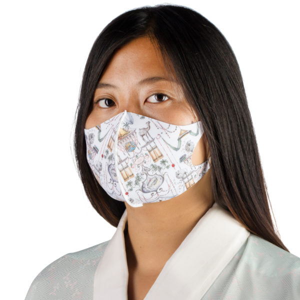 Stoffmaske wiederverwendbar Responsibility, Material Polyester Elasthan, weiss