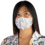 Stoffmaske wiederverwendbar Responsibility, Material Polyester Elasthan, weiss