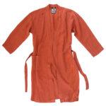 Mantel fuer Damen und Herren in S-M, orange aus Leinen, zoeppritz Stay