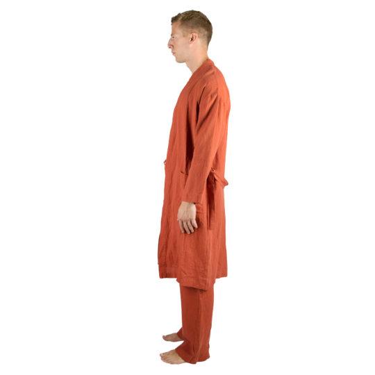 Coat for men and women in L-XL, rust, linen, zoeppritz Stay