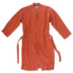 Mantel fuer Herren und Damen in L-XL, orange aus Leinen, zoeppritz Stay