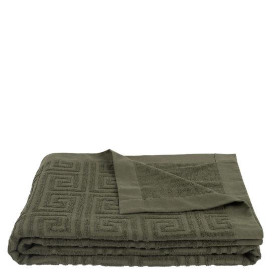Strandtuch 150x200 dunkelgruen aus Baumwolle, zoeppritz Water Leg