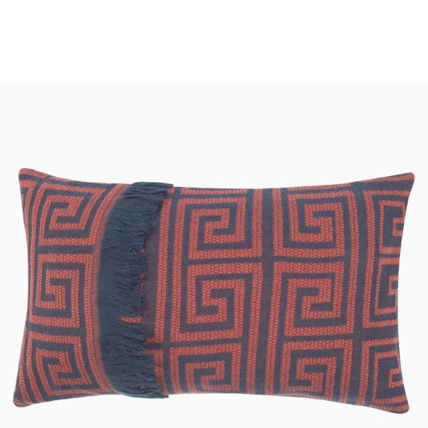 Kissenbezug 30x50 rotorange aus Baumwolle, zoeppritz Sunny Leg