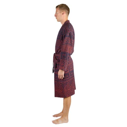 Bathrobe for men and women in L-XL, brick, cotton, zoeppritz Sunny Leg
