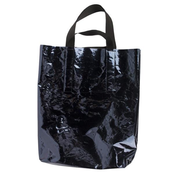 Grosse Tasche, schwarz aus Polyester, zoeppritz Foilshopper Glossy Xlarge Bag
