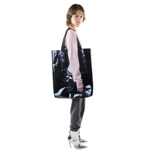 Big Bag, black polyester, zoeppritz Foilshopper Glossy Xlarge Bag