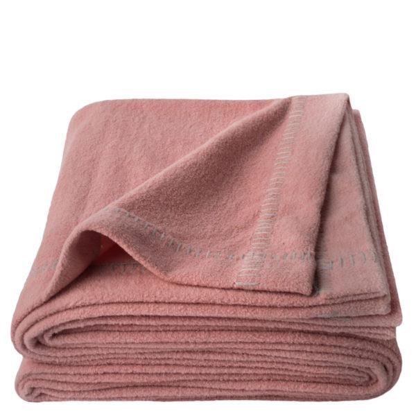 Couchdecke aus Bio-Baumwolle in rosa, 140x190cm, zoeppritz Soft-Greeny