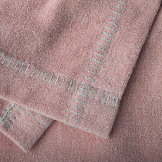Blanket organic cotton, pink in 140x190cm, zoeppritz Soft-Greeny