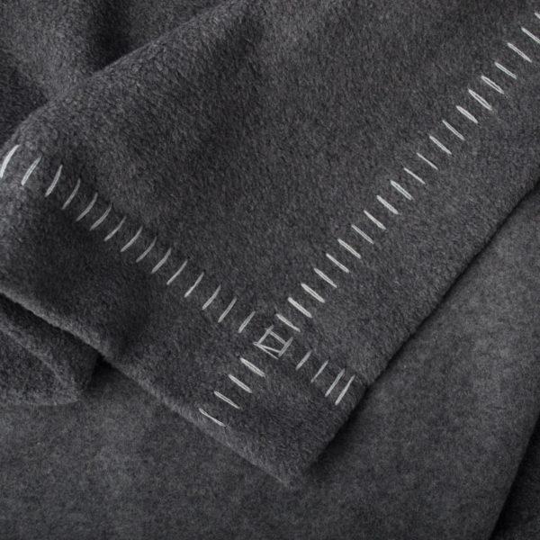 Blanket organic cotton, charcoal in 140x190cm, zoeppritz Soft-Greeny
