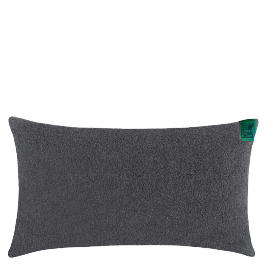 Cushion cover charcoal, organic cotton in 30x50cm, zoeppritz Soft-Greeny