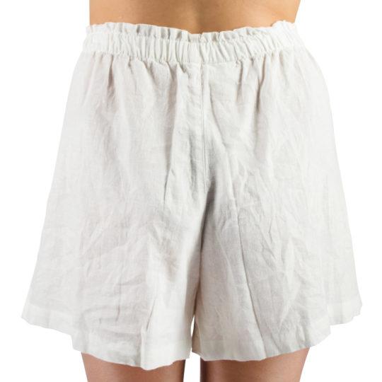 Shorts fuer Damen und Herren in S-M, weiss aus Leinen und Baumwolle, zoeppritz Shorty