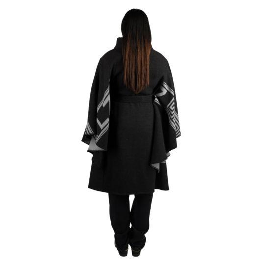 Mantel fuer Damen in schwarz, Kaschmir und Merinowolle in m, zoeppritz The Heroine