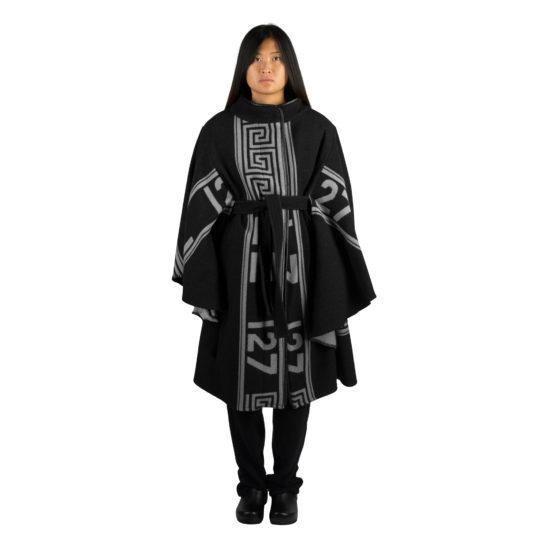 Mantel fuer Damen in schwarz, Kaschmir und Merinowolle in s, zoeppritz The Heroine