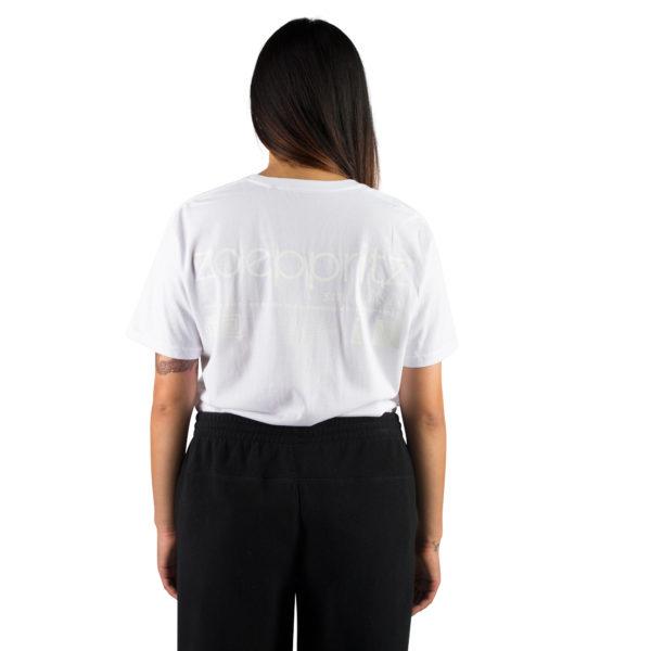 T-Shirt fuer Damen und Herren in weiss, Bio-Baumwolle in S, zoeppritz Homage to H