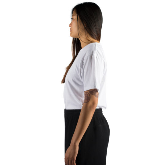 T-Shirt for women and men in white, organic cotton in s, zoeppritz Homage to H
