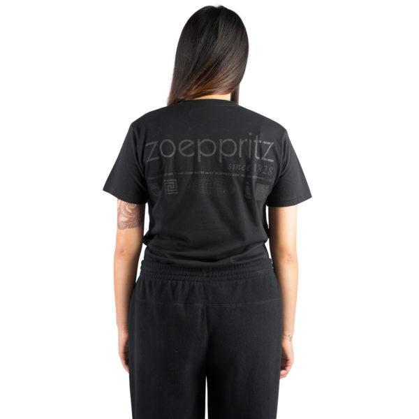 T-Shirt fuer Damen und Herren in schwarz, Bio-Baumwolle in S, zoeppritz Homage to H