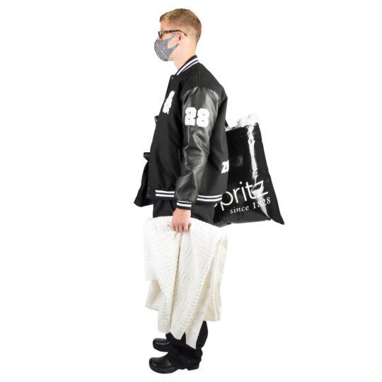 Baseball jacket for men black, xxl made of polyester, zoeppritz Cheer