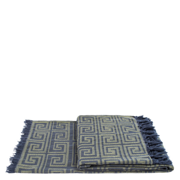 Plaid 150x200 jaegergruen aus Baumwolle, zoeppritz Sunny Leg