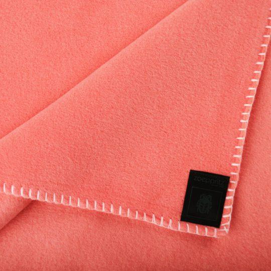Blanket 110x150cm in flamingo color, zoeppritz Soft-Fleece