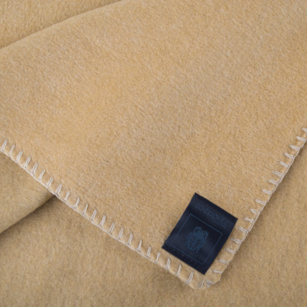 Blanket 110x150cm in camel color, zoeppritz Soft-Fleece