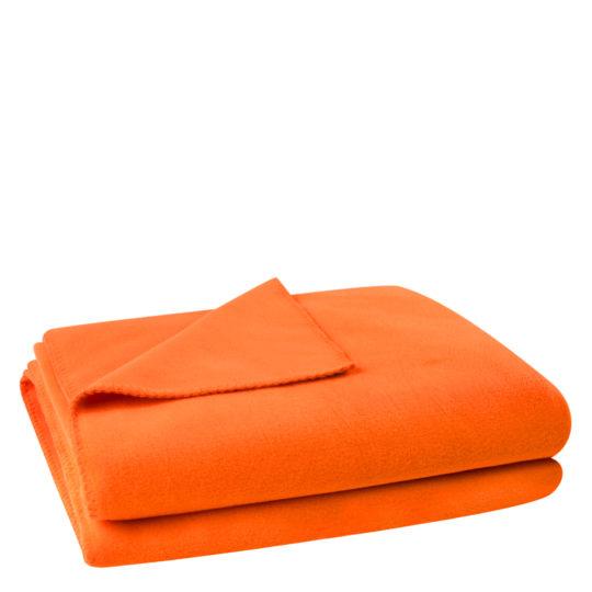 Flauschige Decke fuer Sofa und Couch, orange in 160x200cm, zoeppritz Soft-Fleece