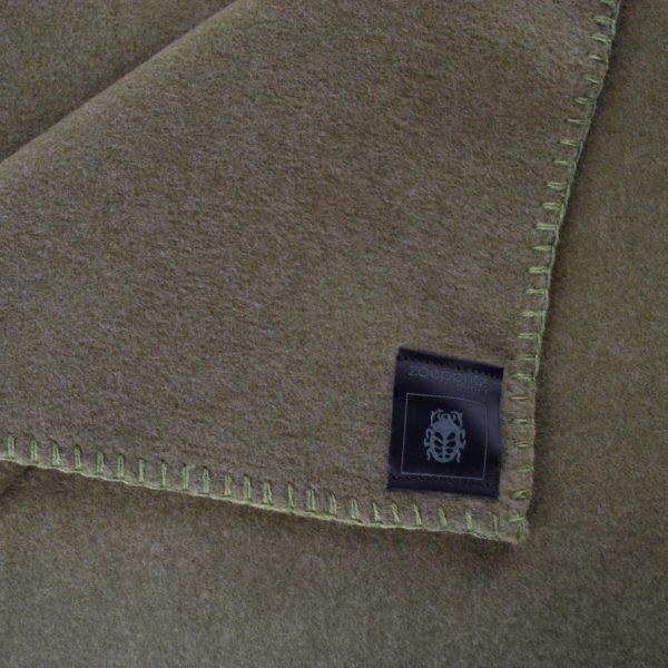 Blanket 160x200cm in military green, zoeppritz Soft-Fleece
