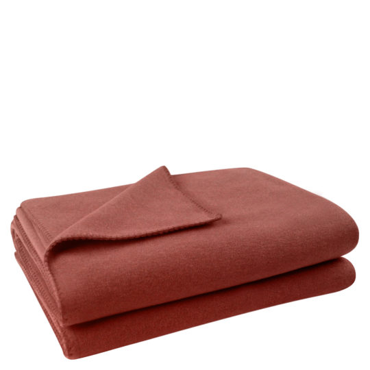 Flauschige Decke fuer Sofa und Couch, kupferfarben in 160x200cm, zoeppritz Soft-Fleece