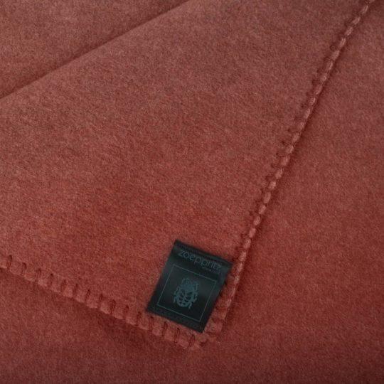 Blanket 160x200cm in copper color, zoeppritz Soft-Fleece