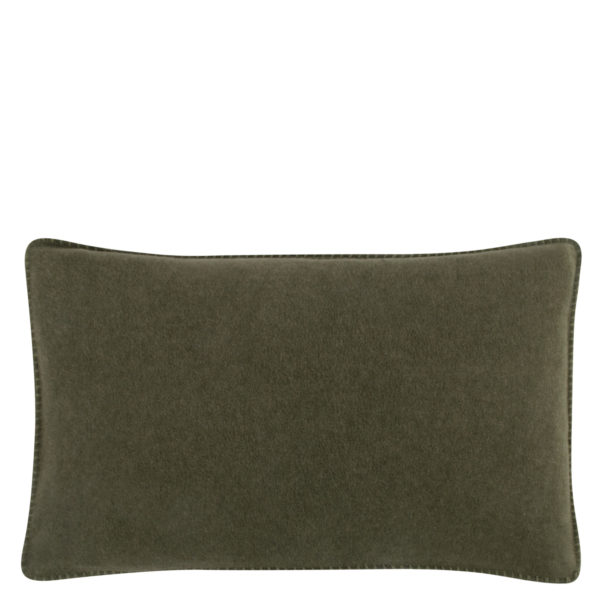 Cushion cover 30x50cm in military green, zoeppritz Soft-Fleece