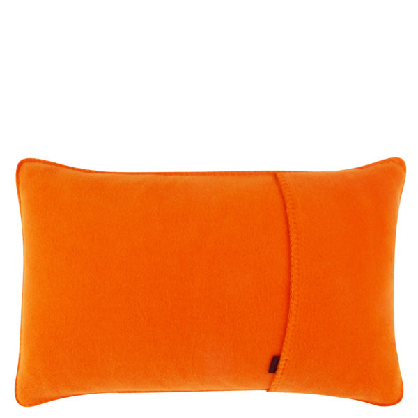Kissenbezug 30x50cm in orange, flauschig aus Fleece, zoeppritz Soft-Fleece