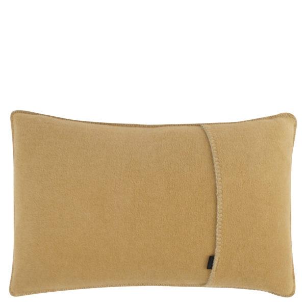 Kissenbezug 30x50cm in camelfarben, flauschig aus Fleece, zoeppritz Soft-Fleece