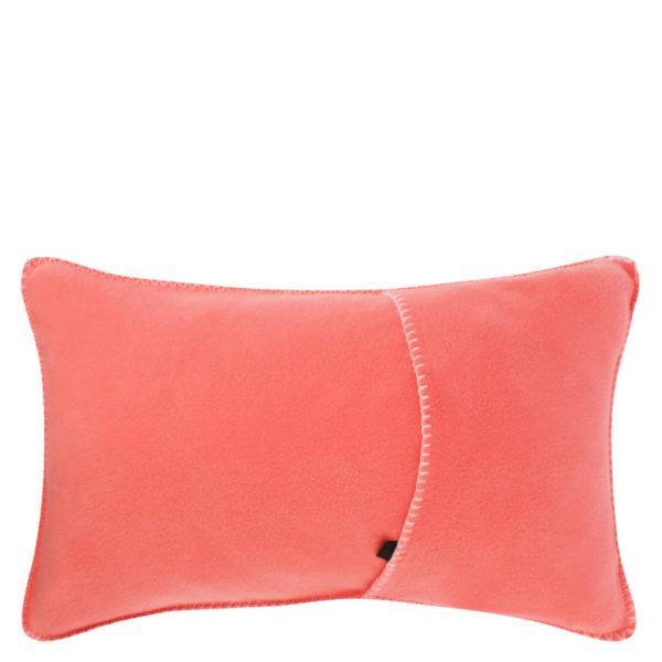 Kissenbezug 30x50cm in flamingofarben, flauschig aus Fleece, zoeppritz Soft-Fleece