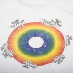 Shirt langarm fuer Herren und Damen in weiss, Bio-Baumwolle in XL, zoeppritz Rainbow Plant