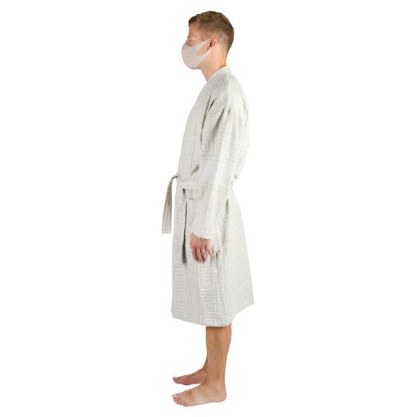 Bathrobe for men and women in l-xl, white, cotton, zoeppritz Sunny Leg