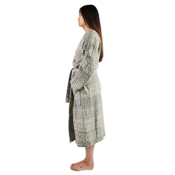 Bathrobe for women and men in s-m, black, cotton, zoeppritz Sunny Leg