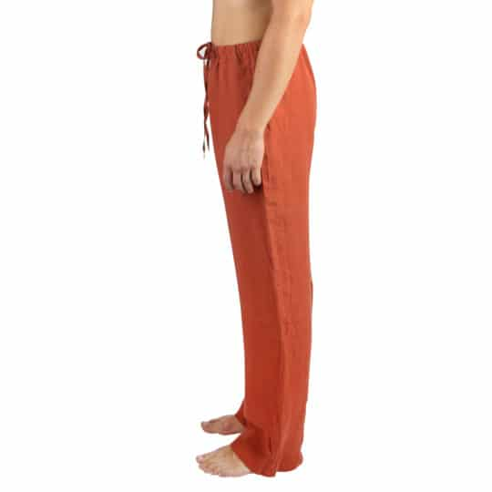 Summer trousers for women and men in S-M, rust, linen, zoeppritz Stay