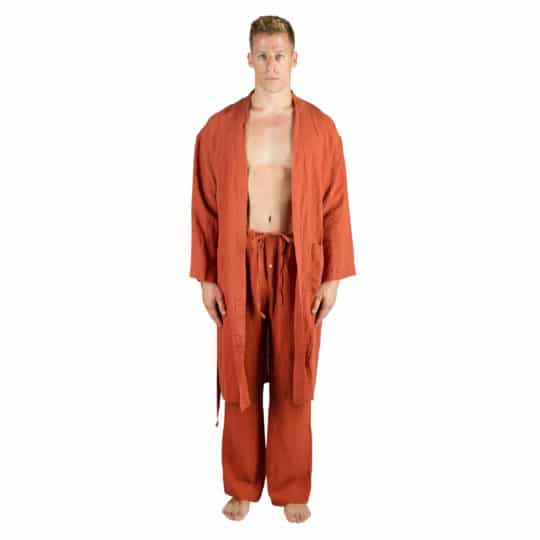 Summer trousers for men and women in L-XL, rust, linen, zoeppritz Stay